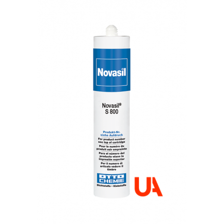 Novasil S800 The silicone for the elastic adhesion and sealing of plastics Cart.310 ml  20 Units.