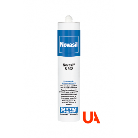 Novasil S802 The silicone for the elastic adhesion and sealing of acrylic glass and polycarbonate.  Cart.310 ml 20 Units