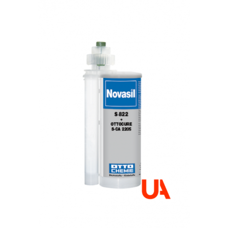 Novasil S822 The Special Adhesive Silicone 2 Comp. Side-by-Side Cartridges 490 Ml 9 Units