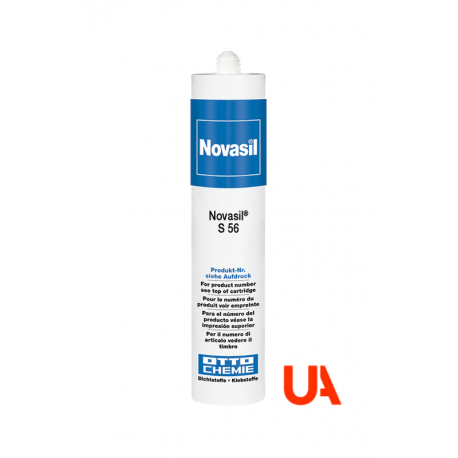 Novasil S56 The neutral-curing 1-component silicone sealant and adhesive Cart. 310 ml 20 Unidades