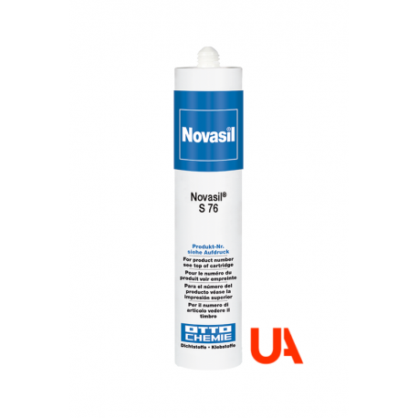 Novasil S76 Reticulation Silicone with 1 comp. Acetate. Very good thermal resistance Cart. 310 ml